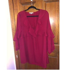 Nordstrom brand red shift dress size small